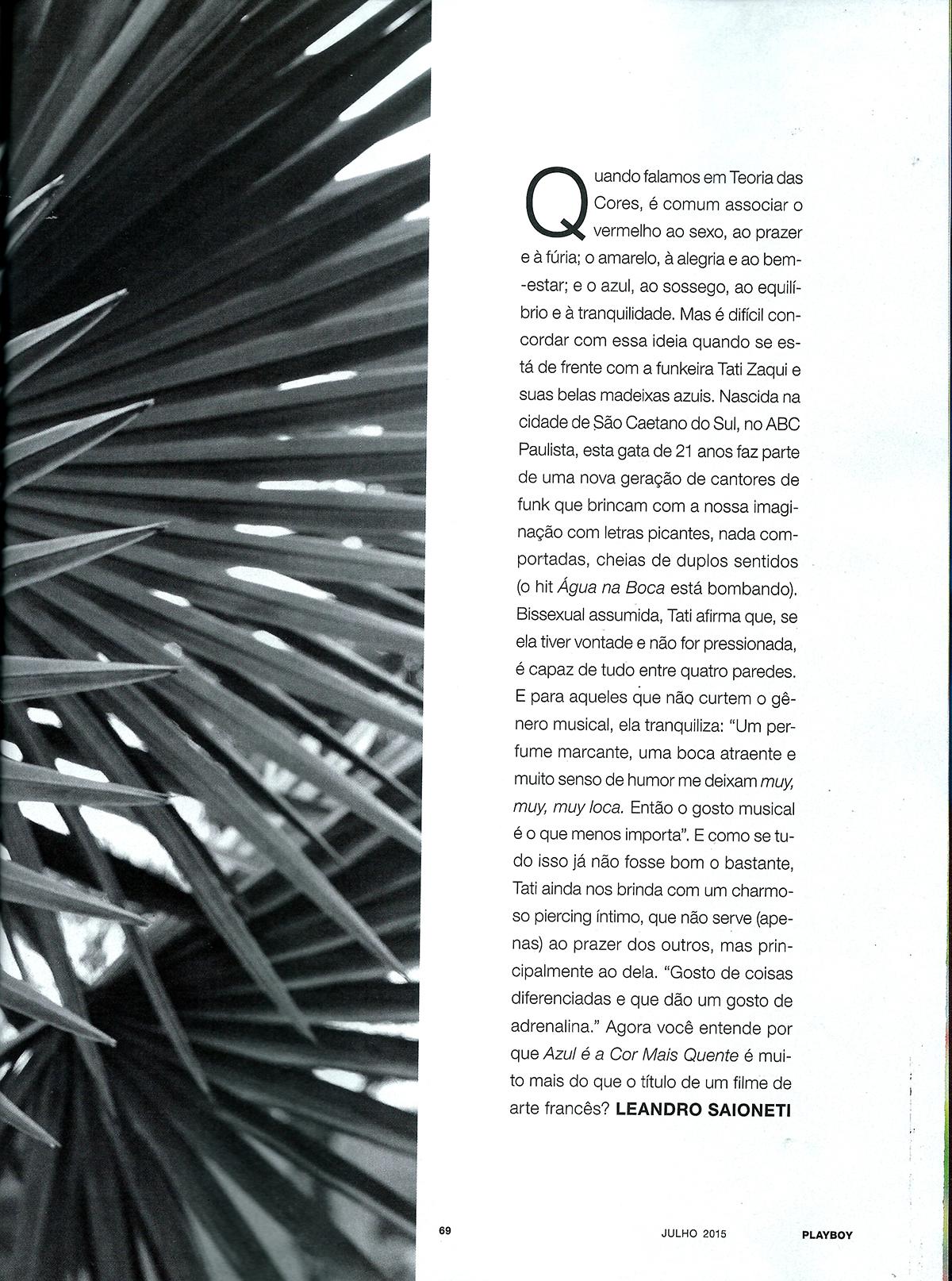 Tati Zaqui funkeira gostosa na Playboy de Julho - Confira