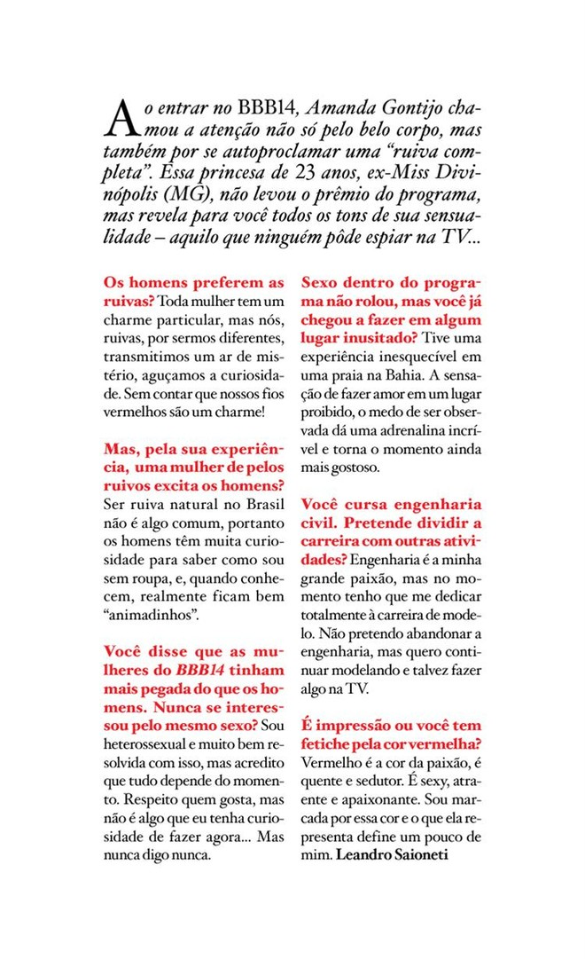 Amanda Gontijo na Playboy de Maio 2014 vale a pena conferir